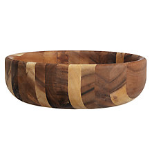 Buy John Lewis Acacia Barrel Bowl, Large Online at johnlewis.com