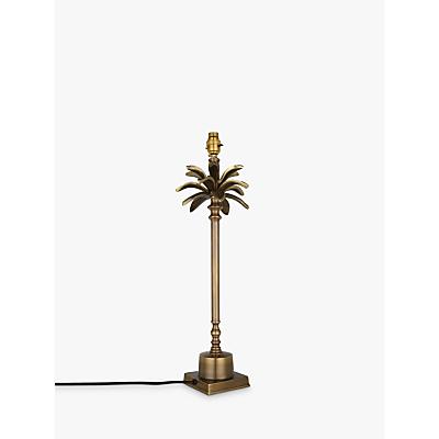 India Jane Palm Leaf Stick Lamp Base, Brass