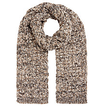 Buy John Lewis Bubble Lattice Wool Blend Scarf, Natural Online at johnlewis.com