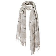 Buy Fat Face Woven Stripe Scarf, Natural Online at johnlewis.com