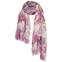 Buy Fat Face Kaleidoscope Butterfly Scarf, Pink Online at johnlewis.com