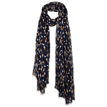Buy Fat Face Exclusive Triangle Print Scarf, Navy Online at johnlewis.com