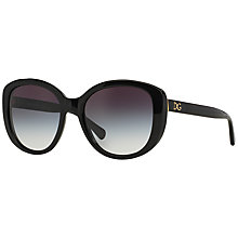 Buy Dolce & Gabbana DG4248 Square Framed Sunglasses, Black Online at johnlewis.com