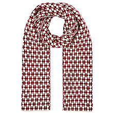 Buy John Lewis Braid Knit Scarf, Claret Online at johnlewis.com