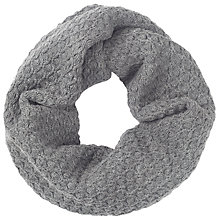 Buy John Lewis Honeycomb Snood, Charcoal Online at johnlewis.com