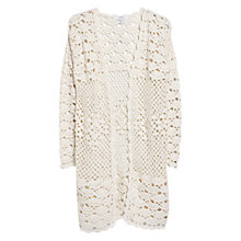 Buy Mango Crochet Cardigan, Natural White Online at johnlewis.com