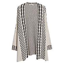 Buy Mango Jacquard Cardigan, Light Beige Online at johnlewis.com