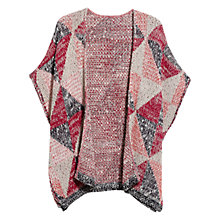 Buy Mango Jacquard Cape, Light Beige Online at johnlewis.com