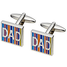 Buy John Lewis Dad Cufflinks, Silver Online at johnlewis.com