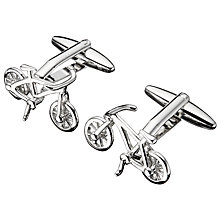 Buy John Lewis Bike Cufflinks, Silver Online at johnlewis.com