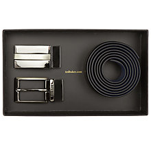 Buy Ted Baker Revinit Leather Belt and 2 Alloy Buckles Box Set, One Size Online at johnlewis.com