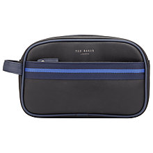 Buy Ted Baker Contrast Striped Trim Wash Bag, Black Online at johnlewis.com