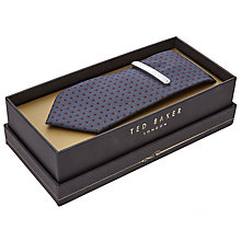 Buy Ted Baker Patterned Tie and Brass Tie Bar Gift Set Online at johnlewis.com