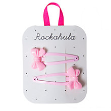 Buy Rockahula Cute Bow Hair Clips, Pink Online at johnlewis.com