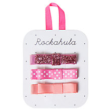 Buy Rockahula Glitter Bow Clips, Pack of 3 Online at johnlewis.com