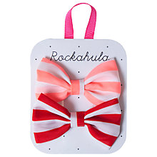 Buy Rockahula Stripy Bow Hair Clips, Pack of 2 Online at johnlewis.com