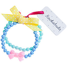 Buy Rockahula Stripy Bead and Bow Bracelet, Blue Online at johnlewis.com