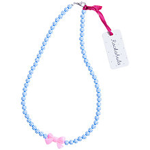 Buy Rockahula Stripy Bead and Bow Necklace, Blue Online at johnlewis.com