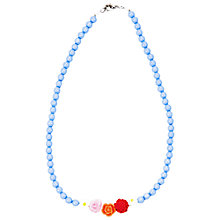 Buy Rockahula Frida Flower Necklace, Blue Online at johnlewis.com