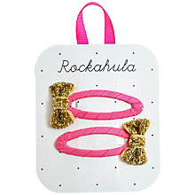 Buy Rockahula Mini Glitter Bow Hair Clips, Pack of 2 Online at johnlewis.com