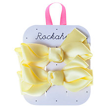 Buy Rockahula Satin Ruffle Bow Hair Clips, Pack of 2 Online at johnlewis.com