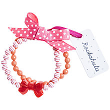 Buy Rockahula Stripy Bead and Bow Bracelet Set, Pink Online at johnlewis.com
