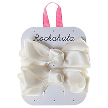 Buy Rockahula Satin Ruffle Bow Hair Clips, Pack of 2, Ivory Online at johnlewis.com