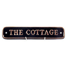 Buy The House Nameplate Company Personalised Solid Brass Rectangle House Sign, Small Online at johnlewis.com