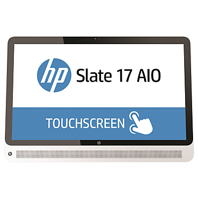 "Image of HP Slate 17-l000na Android All-In-One Desktop Computer, Intel Celeron, 2GB RAM, 32GB SSD, 17"" Full HD Touchscreen, White"
