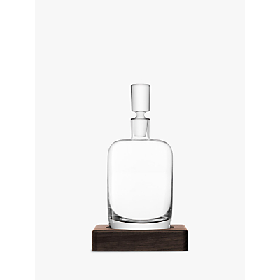 LSA International Straight Whisky Decanter with Walnut Base