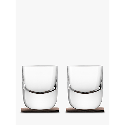 LSA International Straight Whisky Tumbler with Coaster, Set of 2