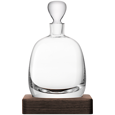 LSA International Curved Whisky Decanter with Walnut Base