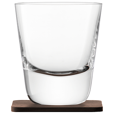 LSA International Conical Whisky Tumbler with Coaster, Set of 2