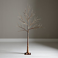 Buy John Lewis Pre-Lit Copper Twig Tree, 6ft Online at johnlewis.com