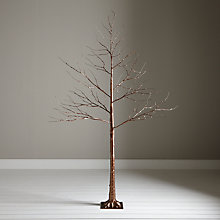 Buy John Lewis Pre-Lit Copper Twig Tree, 8ft Online at johnlewis.com