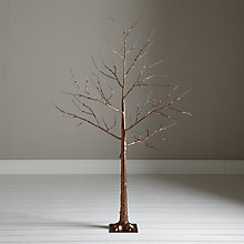 Buy John Lewis Pre-Lit Copper Twig Tree, 4ft Online at johnlewis.com