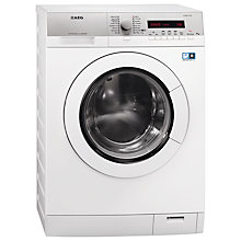 Buy AEG L77695WD Freestanding Washer Dryer, 9kg Wash/6kg Dry Load, A Energy Rating, 1600rmp Spin, White Online at johnlewis.com