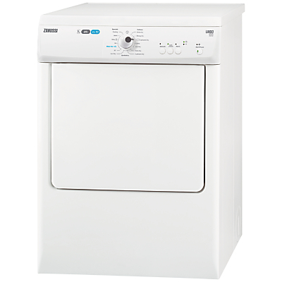Image of Zanussi ZTE7102PZ Freestanding Vented Tumble Dryer, 7kg Load, C Energy Rating, White