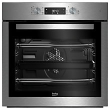 Buy Beko BIM16300XC Single Multifunction Electric Oven, Stainless Steel Online at johnlewis.com