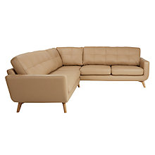 Buy John Lewis Barbican Semi-Aniline Leather Corner Sofa, Prescott Leather Online at johnlewis.com