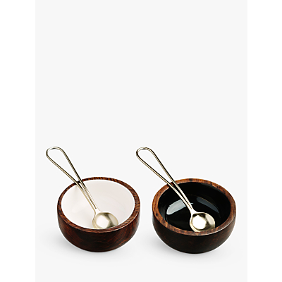 Image of Just Slate Bowls & Spoons, Set of 2