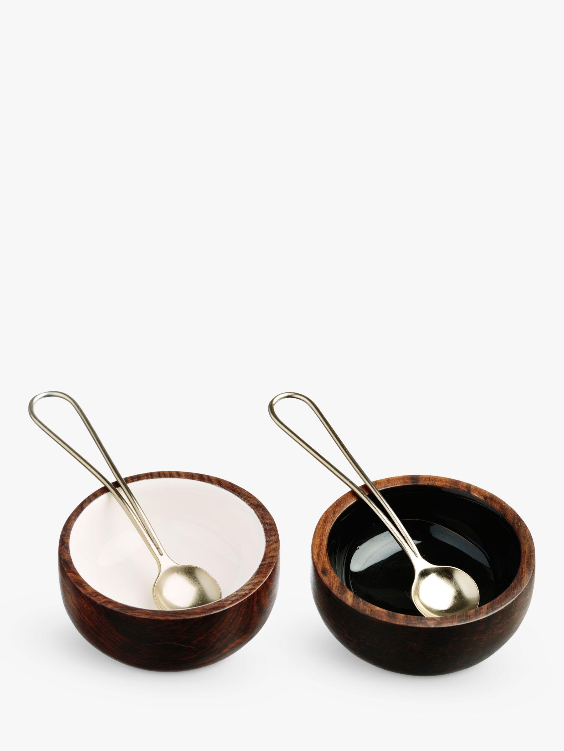 Just Slate Just Slate Bowls & Spoons, Set of 2