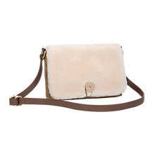 Buy UGG Bailey Suede Messenger Bag, Tan Online at johnlewis.com