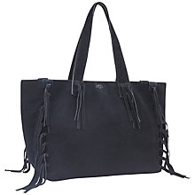 Buy UGG Lea Fringe Tote, Black Online at johnlewis.com