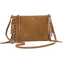 Buy UGG Lea Seude Fringe Across Body Bag Online at johnlewis.com