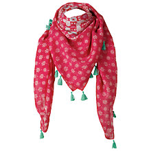 Buy Fat Face Tile Print Lightweight Scarf, Watermelon Online at johnlewis.com