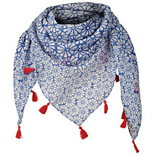 Buy Fat Face Daisy Print Scarf, Blue Online at johnlewis.com