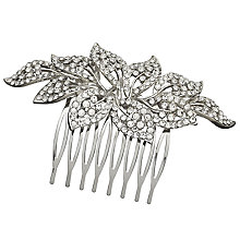 Buy John Lewis Cubic Zirconia Flower Hair Slide, Silver Online at johnlewis.com