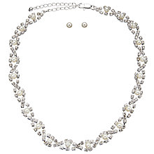 Buy John Lewis Cupchain Sparkle Short Necklace and Earrings Set, Silver Online at johnlewis.com