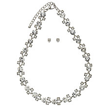 Buy John Lewis Cubic Zirconia Jewellery Set, Silver Online at johnlewis.com